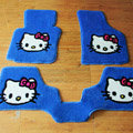 Hello Kitty Tailored Trunk Carpet Auto Floor Mats Velvet 5pcs Sets For BMW 545i - Blue