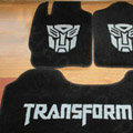 Transformers Tailored Trunk Carpet Cars Floor Mats Velvet 5pcs Sets For BMW 545i - Black