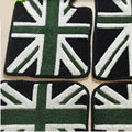 British Flag Tailored Trunk Carpet Cars Flooring Mats Velvet 5pcs Sets For BMW 116i - Green