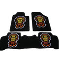 Winter Real Sheepskin Baby Milo Cartoon Tailored Cute Car Floor Mats 5pcs Sets For Cadillac DeVille - Black