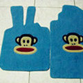 Paul Frank Tailored Trunk Carpet Cars Floor Mats Velvet 5pcs Sets For Honda City - Blue