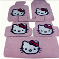 Hello Kitty Tailored Trunk Carpet Cars Floor Mats Velvet 5pcs Sets For Honda CVCC - Pink