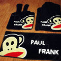 Paul Frank Tailored Trunk Carpet Auto Floor Mats Velvet 5pcs Sets For Honda Jazz - Black