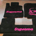 Supreme Tailored Trunk Carpet Automotive Floor Mats Velvet 5pcs Sets For Buick Enclave - Black