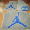 Jordan Tailored Trunk Carpet Cars Flooring Mats Velvet 5pcs Sets For KIA Opirus - Beige