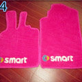Cute Tailored Trunk Carpet Auto Floor Mats Velvet 5pcs Sets For Mazda 2 - Pink