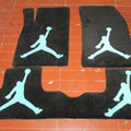 Jordan Tailored Trunk Carpet Cars Flooring Mats Velvet 5pcs Sets For Mitsubishi EVO IX - Black
