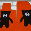 Cartoon Bear Tailored Trunk Carpet Cars Floor Mats Velvet 5pcs Sets For Nissan Patrol - Yellow