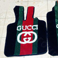 Gucci Custom Trunk Carpet Cars Floor Mats Velvet 5pcs Sets For Peugeot 208 - Red