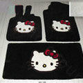 Hello Kitty Tailored Trunk Carpet Auto Floor Mats Velvet 5pcs Sets For Peugeot 208 - Black