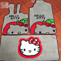 Hello Kitty Tailored Trunk Carpet Cars Floor Mats Velvet 5pcs Sets For Peugeot 208 - Beige