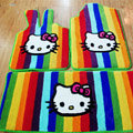 Hello Kitty Tailored Trunk Carpet Cars Floor Mats Velvet 5pcs Sets For Peugeot 208 - Red