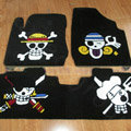 Personalized Skull Custom Trunk Carpet Auto Floor Mats Velvet 5pcs Sets For Peugeot 208 - Black