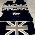 British Flag Tailored Trunk Carpet Cars Flooring Mats Velvet 5pcs Sets For Peugeot 301 - Black