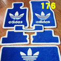 Adidas Tailored Trunk Carpet Cars Flooring Matting Velvet 5pcs Sets For Peugeot 308 - Blue