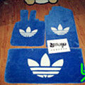 Adidas Tailored Trunk Carpet Auto Flooring Matting Velvet 5pcs Sets For Peugeot 607 - Blue
