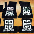 Givenchy Tailored Trunk Carpet Automobile Floor Mats Velvet 5pcs Sets For Peugeot 607 - Black
