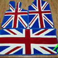 British Flag Tailored Trunk Carpet Cars Flooring Mats Velvet 5pcs Sets For Peugeot BB1 - Blue