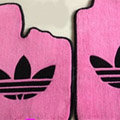 Adidas Tailored Trunk Carpet Cars Flooring Matting Velvet 5pcs Sets For Peugeot HR1 - Pink