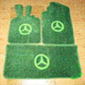 Winter Benz Custom Trunk Carpet Cars Flooring Mats Velvet 5pcs Sets For Peugeot iOn - Green