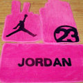 Jordan Tailored Trunk Carpet Cars Flooring Mats Velvet 5pcs Sets For Volvo V60 - Pink