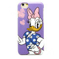 Brand Donald Duck Covers Plastic Back Cases Cartoon Cute for iPhone 6S Plus 5.5 - Purple