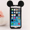 Cartoon Mickey Bumper Frame Cover Disney Silicone Cases Shell for iPhone 6S Plus 5.5 - Black