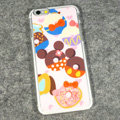 Cartoon Mickey Mouse Covers Hard Back Cases Disney Printing Shell for iPhone 6S Plus 5.5 - Pink