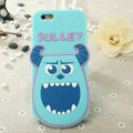 Cute Cartoon Cover Disney Sulley Silicone Cases Skin for iPhone 6S Plus 5.5 - Blue