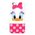 Genuine Cute Daisy duck Covers Plastic Back Cases Cartoon Matte for iPhone 6S Plus 5.5 - Pink