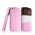 IMAK Chocolate Series leather Case Holster Cover for iPhone 6S Plus - Pink