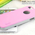 IMAK Matte double Color Cover Hard Case for iPhone 6S Plus - Pink (High transparent screen protector)