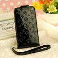 LV LOUIS VUITTON leather Cases Luxury Holster Covers Skin for iPhone 6S Plus - Black