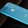 Luxury Aluminum Alloy Metal Bumper Frame Covers + PC Back Cases for iPhone 6S Plus 5.5 - Blue
