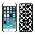Luxury Coach Covers Hard Back Cases Protective Shell Skin for iPhone 6S Plus 5.5 Black - Black