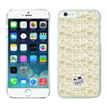 Plastic Coach Covers Hard Back Cases Protective Shell Skin for iPhone 6S Plus 5.5 Beige - White