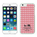 Plastic Coach Covers Hard Back Cases Protective Shell Skin for iPhone 6S Plus 5.5 Red - White