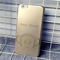 Plastic Paul Frank Covers Hard Back Cases Cartoon Shell Skin for iPhone 6S Plus 5.5 - Gold