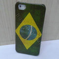 Retro Brazil flag Hard Back Cases Covers Skin for iPhone 6S Plus