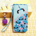 Stitch leather Case Side Flip Holster Cover Skin for iPhone 6S Plus - Blue