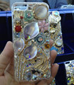 Swarovski crystal cases Bling Flower Swan diamond cover skin for iPhone 6S Plus - White