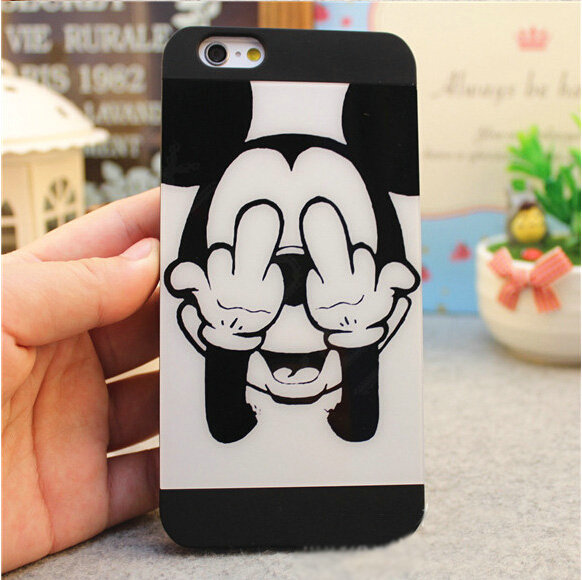 Buy Wholesale Brand Mickey Mouse Covers Plastic Matte Back Cases Cartoon Cute For Iphone 7 Plus 5 5 Black From Chinese Wholesaler Ecbol Cn
