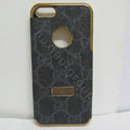GUCCI leather Cases Luxury Hard Back Covers Skin for iPhone 7 Plus - Black