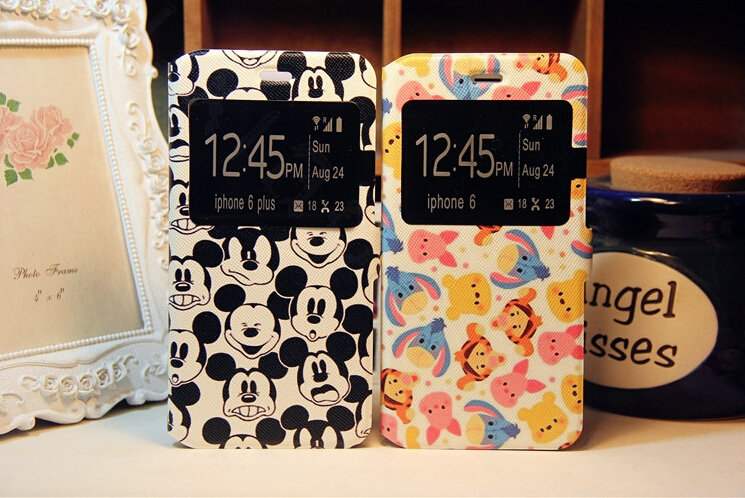 iphone 7 case disney leather