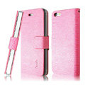 IMAK Slim leather Cases Luxury Holster Covers for iPhone 7 Plus - Pink