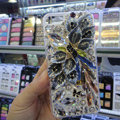Swarovski crystal cases Bling Flower diamond cover for iPhone 7 Plus - Gray