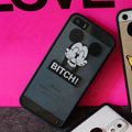 TPU Cover Disney Mickey Mouse Silicone Case Bitch for iPhone 7 Plus 5.5 - Transparent