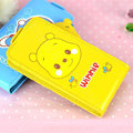 Winnie the Pooh Flip leather Case Holster Cover Skin for iPhone 7 Plus - Yellow