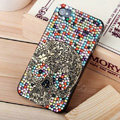 Bling Hard Covers Skull diamond Crystal Cases Skin for iPhone 7S - Color