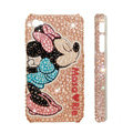 Bling Swarovski crystal cases Minnie Mouse diamond covers for iPhone 7S - Pink